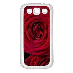 Roses Flowers Red Forest Bloom Samsung Galaxy S3 Back Case (white)