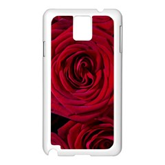 Roses Flowers Red Forest Bloom Samsung Galaxy Note 3 N9005 Case (White)