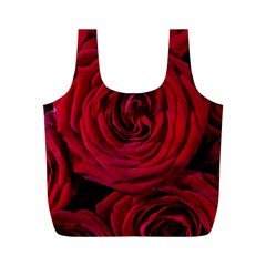 Roses Flowers Red Forest Bloom Full Print Recycle Bags (M)