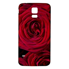 Roses Flowers Red Forest Bloom Samsung Galaxy S5 Back Case (White)