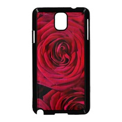 Roses Flowers Red Forest Bloom Samsung Galaxy Note 3 Neo Hardshell Case (Black)