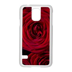 Roses Flowers Red Forest Bloom Samsung Galaxy S5 Case (White)