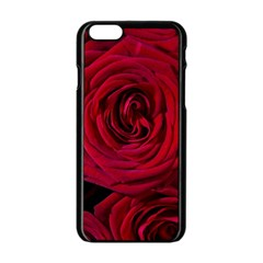 Roses Flowers Red Forest Bloom Apple iPhone 6/6S Black Enamel Case