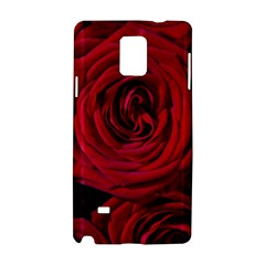 Roses Flowers Red Forest Bloom Samsung Galaxy Note 4 Hardshell Case