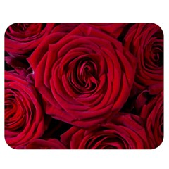 Roses Flowers Red Forest Bloom Double Sided Flano Blanket (Medium)
