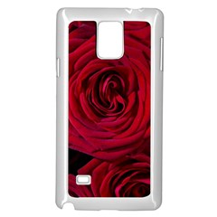 Roses Flowers Red Forest Bloom Samsung Galaxy Note 4 Case (White)