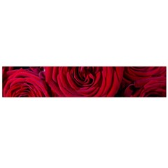Roses Flowers Red Forest Bloom Flano Scarf (Large)