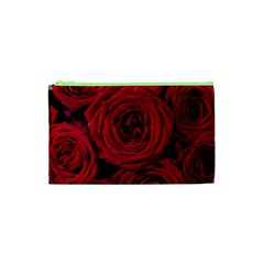Roses Flowers Red Forest Bloom Cosmetic Bag (XS)