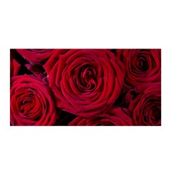 Roses Flowers Red Forest Bloom Satin Wrap