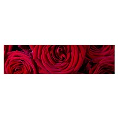 Roses Flowers Red Forest Bloom Satin Scarf (Oblong)