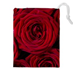 Roses Flowers Red Forest Bloom Drawstring Pouches (XXL)