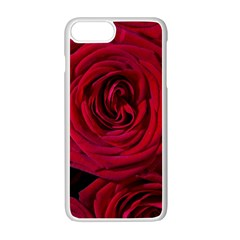 Roses Flowers Red Forest Bloom Apple iPhone 7 Plus White Seamless Case
