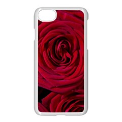Roses Flowers Red Forest Bloom Apple iPhone 7 Seamless Case (White)