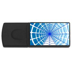 Cobweb Network Points Lines Usb Flash Drive Rectangular (4 Gb) by Amaryn4rt