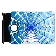 Cobweb Network Points Lines Apple Ipad 2 Flip 360 Case by Amaryn4rt