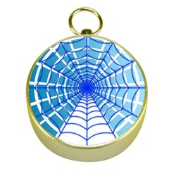 Cobweb Network Points Lines Gold Compasses