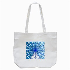 Cobweb Network Points Lines Tote Bag (white)