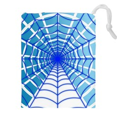 Cobweb Network Points Lines Drawstring Pouches (xxl) by Amaryn4rt