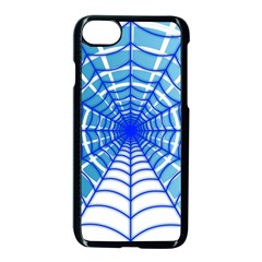 Cobweb Network Points Lines Apple Iphone 7 Seamless Case (black) by Amaryn4rt