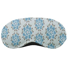 Flower Floral Rose Bird Animals Blue Grey Study Sleeping Masks