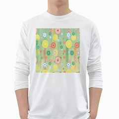 Flower Arrangements Season Pink Yellow Red Rose Sunflower White Long Sleeve T Shirts