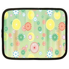 Flower Arrangements Season Pink Yellow Red Rose Sunflower Netbook Case (large)