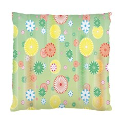 Flower Arrangements Season Pink Yellow Red Rose Sunflower Standard Cushion Case (two Sides) by Alisyart