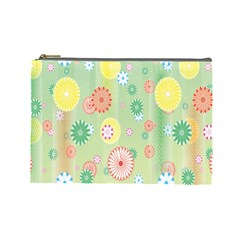 Flower Arrangements Season Pink Yellow Red Rose Sunflower Cosmetic Bag (large)