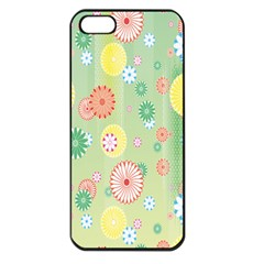 Flower Arrangements Season Pink Yellow Red Rose Sunflower Apple Iphone 5 Seamless Case (black)