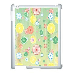 Flower Arrangements Season Pink Yellow Red Rose Sunflower Apple Ipad 3/4 Case (white)