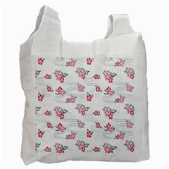 Flower Arrangements Season Sunflower Pink Red Waves Grey Recycle Bag (one Side) by Alisyart