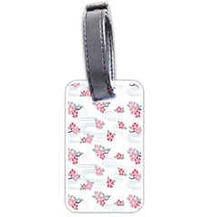 Flower Arrangements Season Sunflower Pink Red Waves Grey Luggage Tags (two Sides)