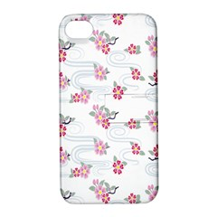 Flower Arrangements Season Sunflower Pink Red Waves Grey Apple Iphone 4/4s Hardshell Case With Stand by Alisyart