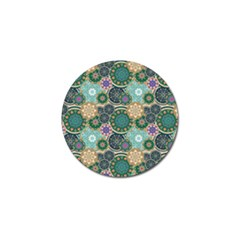 Flower Sunflower Floral Circle Star Color Purple Blue Golf Ball Marker by Alisyart