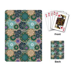 Flower Sunflower Floral Circle Star Color Purple Blue Playing Card