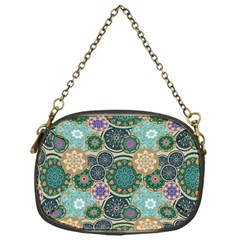 Flower Sunflower Floral Circle Star Color Purple Blue Chain Purses (one Side)