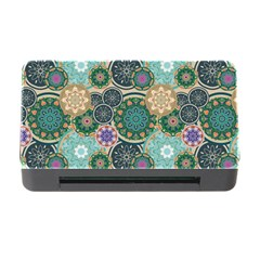 Flower Sunflower Floral Circle Star Color Purple Blue Memory Card Reader With Cf by Alisyart