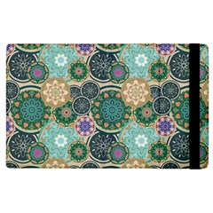 Flower Sunflower Floral Circle Star Color Purple Blue Apple Ipad 2 Flip Case by Alisyart