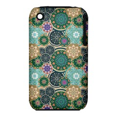 Flower Sunflower Floral Circle Star Color Purple Blue Iphone 3s/3gs by Alisyart