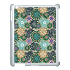 Flower Sunflower Floral Circle Star Color Purple Blue Apple Ipad 3/4 Case (white) by Alisyart