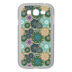 Flower Sunflower Floral Circle Star Color Purple Blue Samsung Galaxy Grand Duos I9082 Case (white)