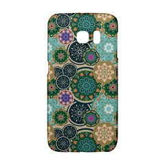 Flower Sunflower Floral Circle Star Color Purple Blue Galaxy S6 Edge