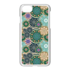 Flower Sunflower Floral Circle Star Color Purple Blue Apple Iphone 7 Seamless Case (white)