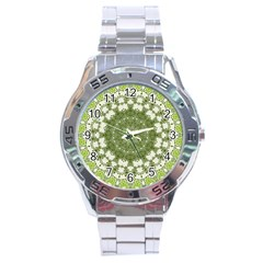 Mandala Center Strength Motivation Stainless Steel Analogue Watch by Amaryn4rt