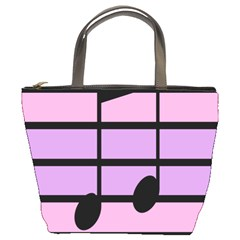 Music Gender Pride Note Flag Blue Pink Purple Bucket Bags by Alisyart