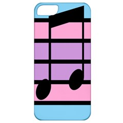 Music Gender Pride Note Flag Blue Pink Purple Apple Iphone 5 Classic Hardshell Case