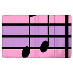 Music Gender Pride Note Flag Blue Pink Purple Apple Ipad 2 Flip Case