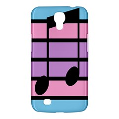 Music Gender Pride Note Flag Blue Pink Purple Samsung Galaxy Mega 6 3  I9200 Hardshell Case by Alisyart