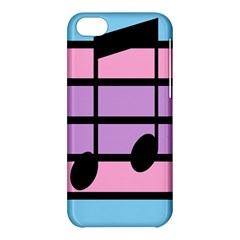 Music Gender Pride Note Flag Blue Pink Purple Apple Iphone 5c Hardshell Case by Alisyart