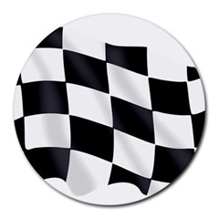 Flag Chess Corse Race Auto Road Round Mousepads by Amaryn4rt